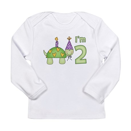 Little Turtle 2nd Birthday Long Sleeve Infant T-Sh