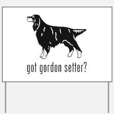 Gordon Setter Yard Sign
