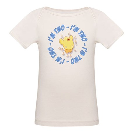 Happy Chick 2nd Birthday Blue Organic Baby T-Shirt