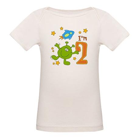 Lil Alien 2nd Birthday Organic Baby T-Shirt
