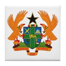 Ghana Coat of Arms Tile Coaster