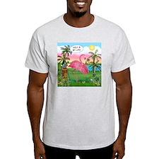 Golfing Flamingo T-Shirt