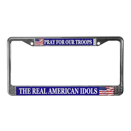 Troops License Plate Frame
