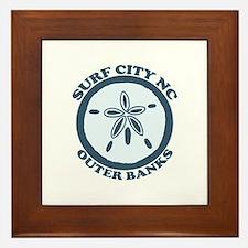 Surf City NC - Sand Dollar Design Framed Tile