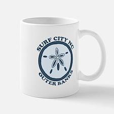 Surf City NC - Sand Dollar Design Mug