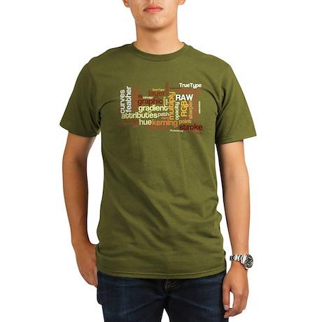 Desktop Publishing Words Organic Men's T-Shirt (da