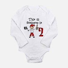 Stick Pirate 2nd Birthday Long Sleeve Infant Bodys