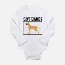 Fawn Great Dane Long Sleeve Infant Bodysuit