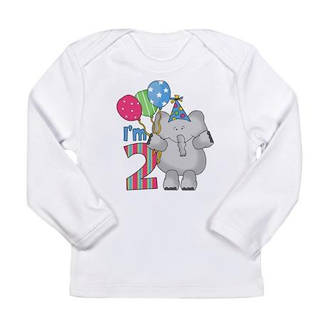 Lil Elephant 2nd Birthday Long Sleeve Infant T-Shi