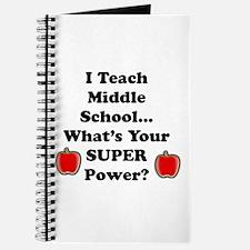 6th grade teacher Journal
