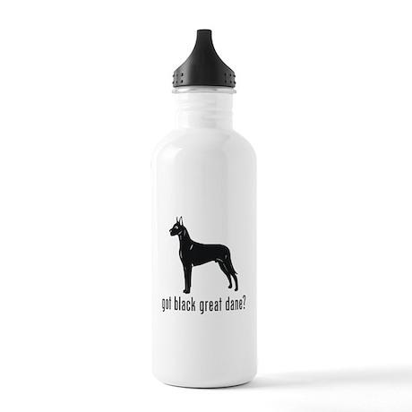 Black Great Dane Stainless Water Bottle 1.0L