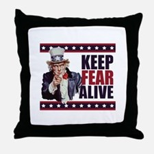 Keep Fear Alive Throw Pillow