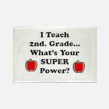 Unique Second grade teacher Rectangle Magnet