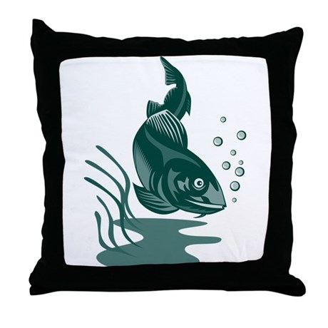 atlantic codfish Throw Pillow
