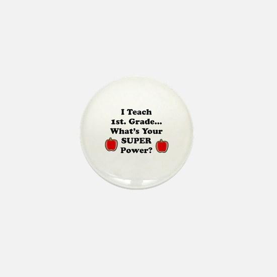 Cute 1st grade Mini Button