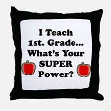 Cute Teacher 1st grade Throw Pillow
