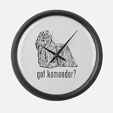 Komondor Large Wall Clock