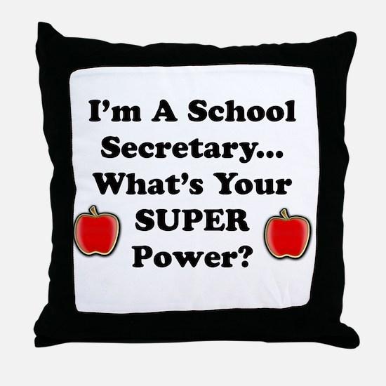 Cool Secretary Throw Pillow
