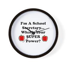 Cute School secretary Wall Clock
