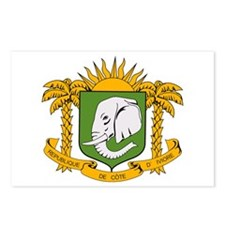 Ivory Coast Coat of Arms Postcards (Package of 8)