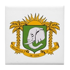 Ivory Coast Coat of Arms Tile Coaster