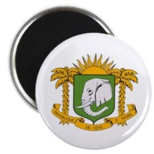 """Ivory Coast Coat of Arms 2.25"""" Magnet (10 pack)"""