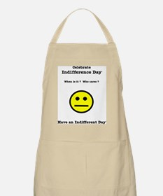 Celebrate Indifference Day BBQ Apron