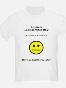 Celebrate Indifference Day Kids T-Shirt