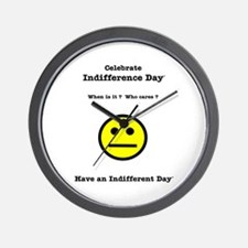 Celebrate Indifference Day Wall Clock