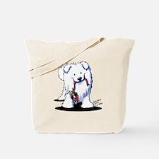 Penguin Sled Samoyed Tote Bag