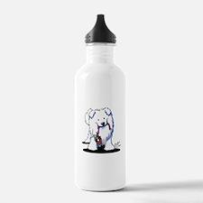 Penguin Sled Samoyed Sports Water Bottle