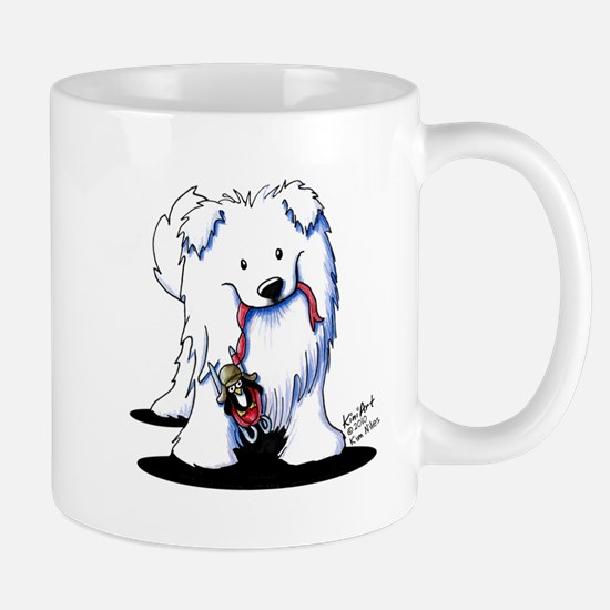 Penguin Sled Samoyed Mug