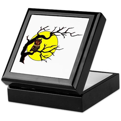 Owl Tree Moon Keepsake Box