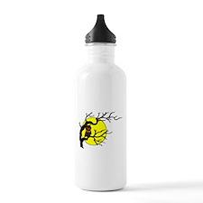 Owl Tree Moon Sports Water Bottle