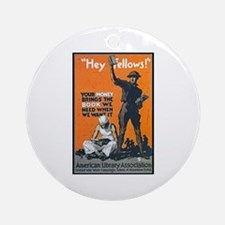 Library Association Reading Ornament (Round)