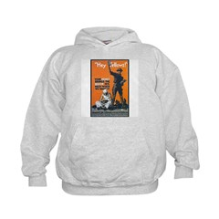 Library Association Reading (Front) Kids Hoodie