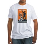 Library Association Reading (Front) Fitted T-Shirt
