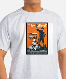 Library Association Reading (Front) Ash Grey T-Shi