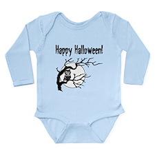 Happy Halloween Owl Long Sleeve Infant Bodysuit