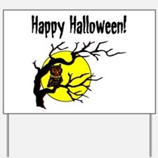 Happy Halloween Owl Yard Sign