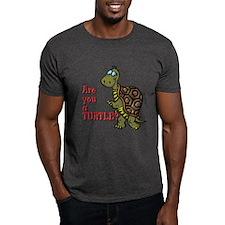 Walking Turtle Black T-Shirt