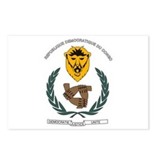 DR Congo Coat of Arms Postcards (Package of 8)