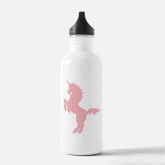 Plaid Unicorn Water Bottle