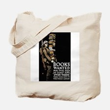 Books Wanted Poster Art Tote Bag