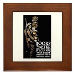 Books Wanted Poster Art Framed Tile