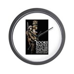 Books Wanted Poster Art Wall Clock