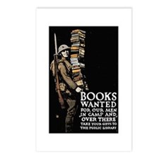 Books Wanted Poster Art Postcards (Package of 8)