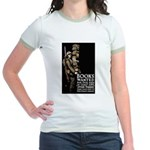 Books Wanted Poster Art Jr. Ringer T-Shirt