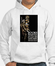 Books Wanted Poster Art (Front) Hoodie