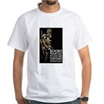 Books Wanted Poster Art (Front) White T-Shirt